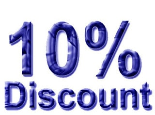 10% off block bookings of 5 or 10 massages